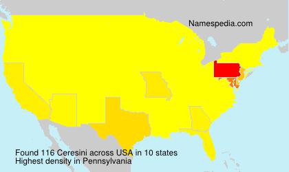 Familiennamen Ceresini - USA