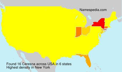 Surname Ceresna in USA