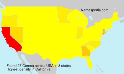Familiennamen Cereso - USA