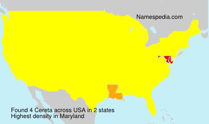 Familiennamen Cereta - USA