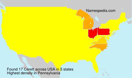 Familiennamen Cerett - USA