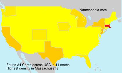 Familiennamen Cerez - USA