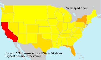 Familiennamen Cerezo - USA