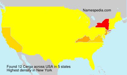 Familiennamen Cerga - USA