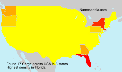 Familiennamen Cerge - USA