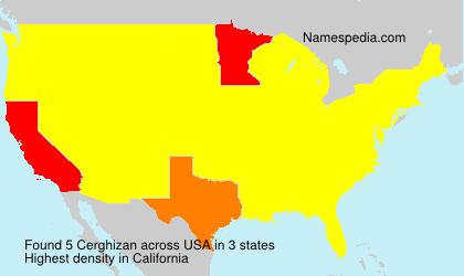 Familiennamen Cerghizan - USA