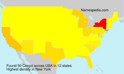 Familiennamen Cergol - USA