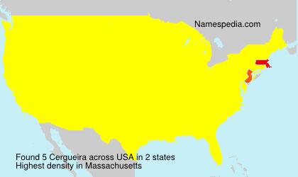 Familiennamen Cergueira - USA