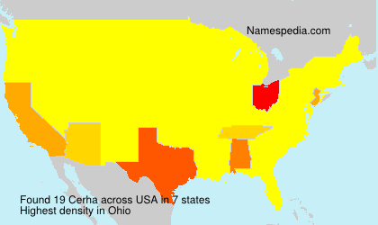 Surname Cerha in USA