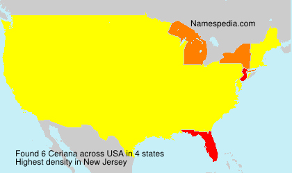 Familiennamen Ceriana - USA