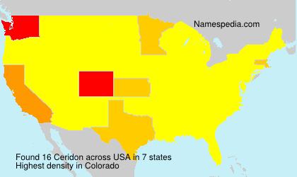 Familiennamen Ceridon - USA