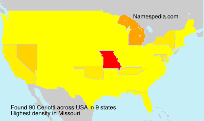 Surname Ceriotti in USA