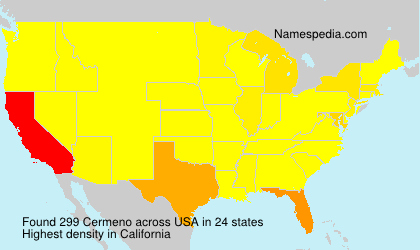 Surname Cermeno in USA
