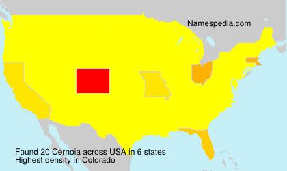 Surname Cernoia in USA