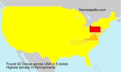 Surname Cerula in USA