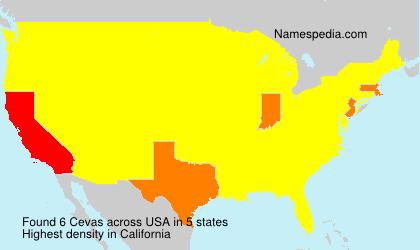 Surname Cevas in USA