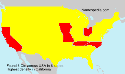 Surname Cfe in USA