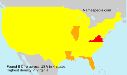 Surname Cfre in USA