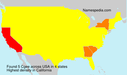 Surname Cgee in USA