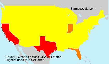 Surname Chaang in USA