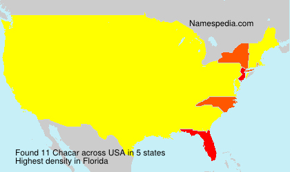 Surname Chacar in USA