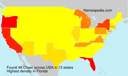 Surname Chaer in USA