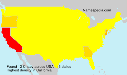 Surname Chaey in USA