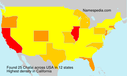 Surname Chafai in USA