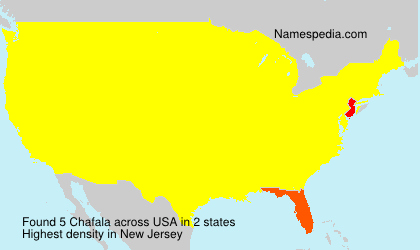 Surname Chafala in USA