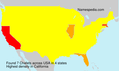 Surname Chafets in USA