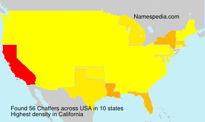 Surname Chaffers in USA