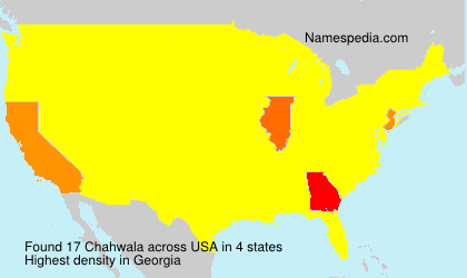Surname Chahwala in USA