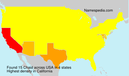 Surname Chaid in USA