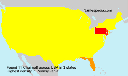 Surname Chairnoff in USA