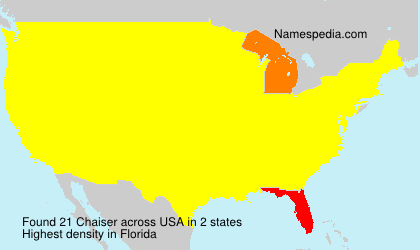 Surname Chaiser in USA