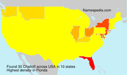 Surname Chaitoff in USA