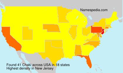 Surname Chaki in USA