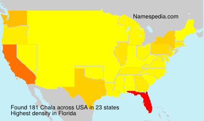 Surname Chala in USA