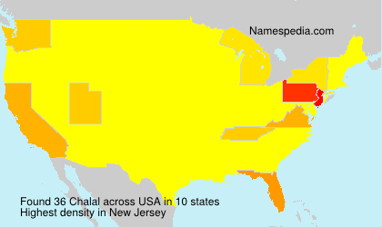 Surname Chalal in USA
