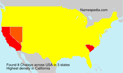 Surname Chalaye in USA