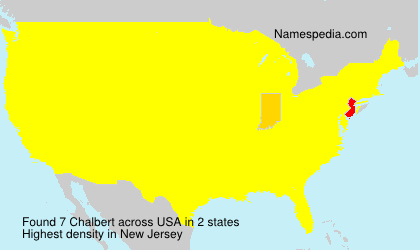 Surname Chalbert in USA