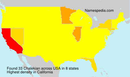 Surname Chalekian in USA