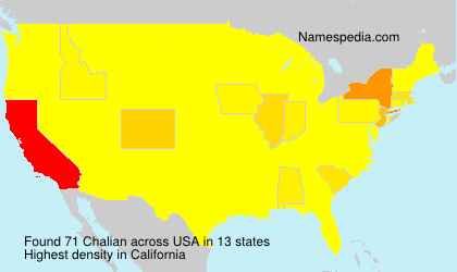 Surname Chalian in USA