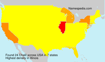 Surname Chalil in USA