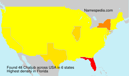 Surname Chaljub in USA