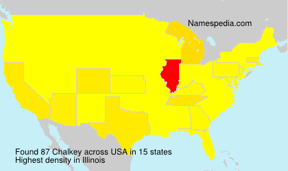 Surname Chalkey in USA