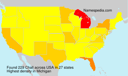 Surname Chall in USA