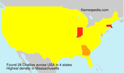 Surname Challies in USA
