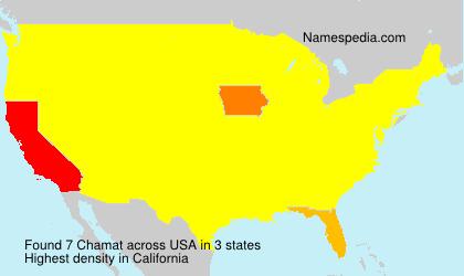 Familiennamen Chamat - USA