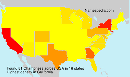 Surname Champness in USA